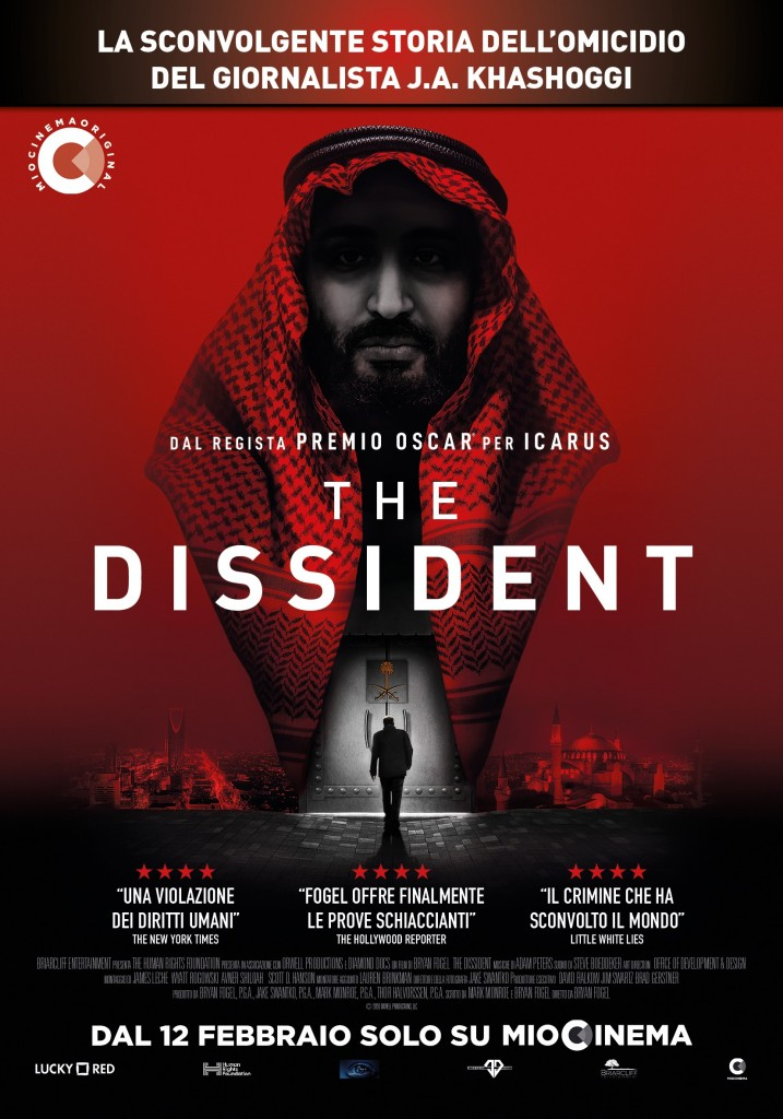 La locandina del film, si può vedere su Miocinema dal 12 febbraio