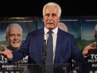 Il presidente della Toscana Eugenio Giani è in carica dallo scorso settembre
