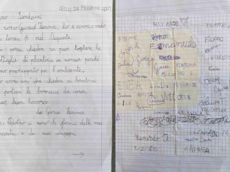 La lettera inviata da Giosuè e dai suoi compagni al sindaco di Lecco Mauro Gattinoni