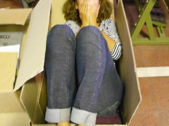 Maria in una foto scherzosa fatta qualche anno fa, quando la malattia non si era manifestata