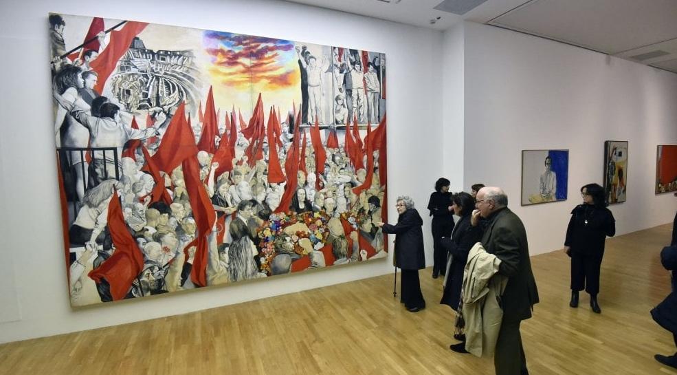 Un'opera di Guttuso esposta alla Gam di Torino nel 2018