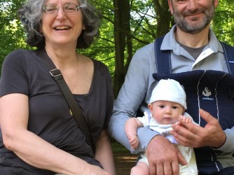 Laura e Luciano con il loro nipotino Mattia