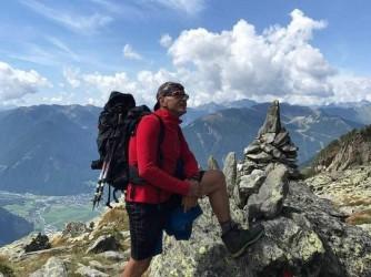 Pio ama arrampicare, qui è sul Moostock nelle Alpi Aurine