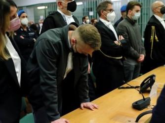 Il momento della lettura della sentenza al processo a Finnegan Lee Elder e Gabriel Natale-Hjorth