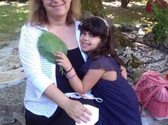 Gloria e sua figlia Agnese, sette anni, che si chiama come la nonna morta tanti anni fa
