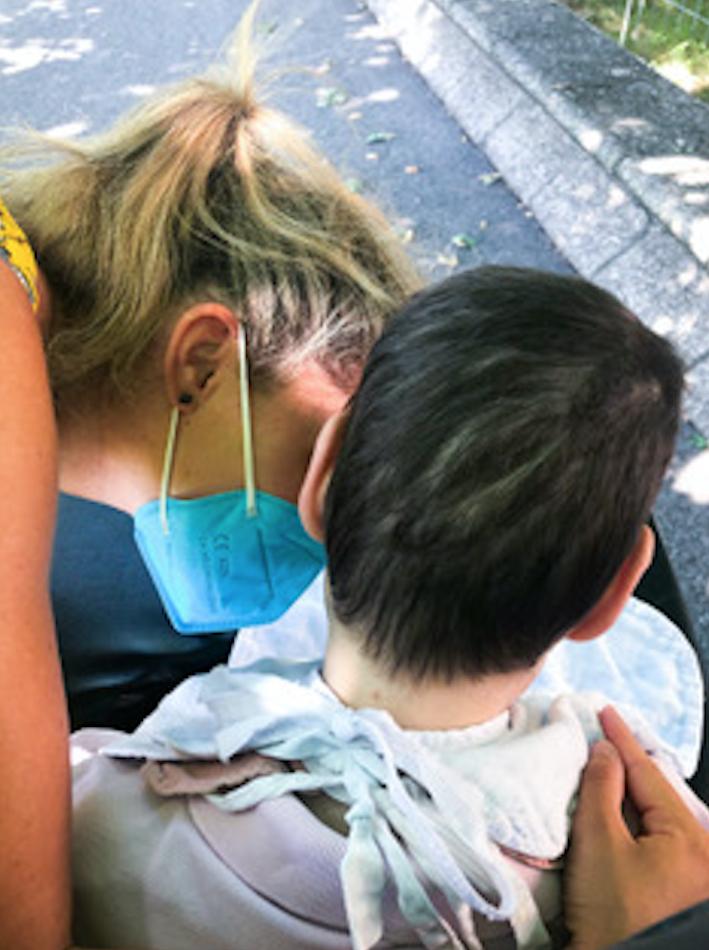 Giulia e suo fratello Giacomo durante il loro recente incontro