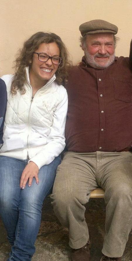 Alice con suo padre Liberato, morto in ospedale senza poter salutare i suoi parenti
