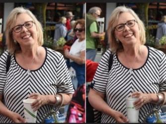 Guarda le differenze: una foto del genere in Norvegia è proibita e hi la posta pagherà una molta a meno che non denunci il ritocco