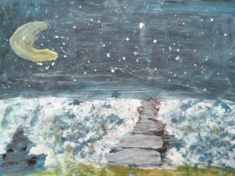 Il disegno fatto dalla bambina, secondo Giulia è pieno di speranza