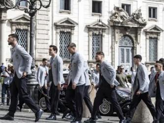 L'arrivo al Qiuirinale della nazionale italiana di calcio reduce dalla vittoria in finale