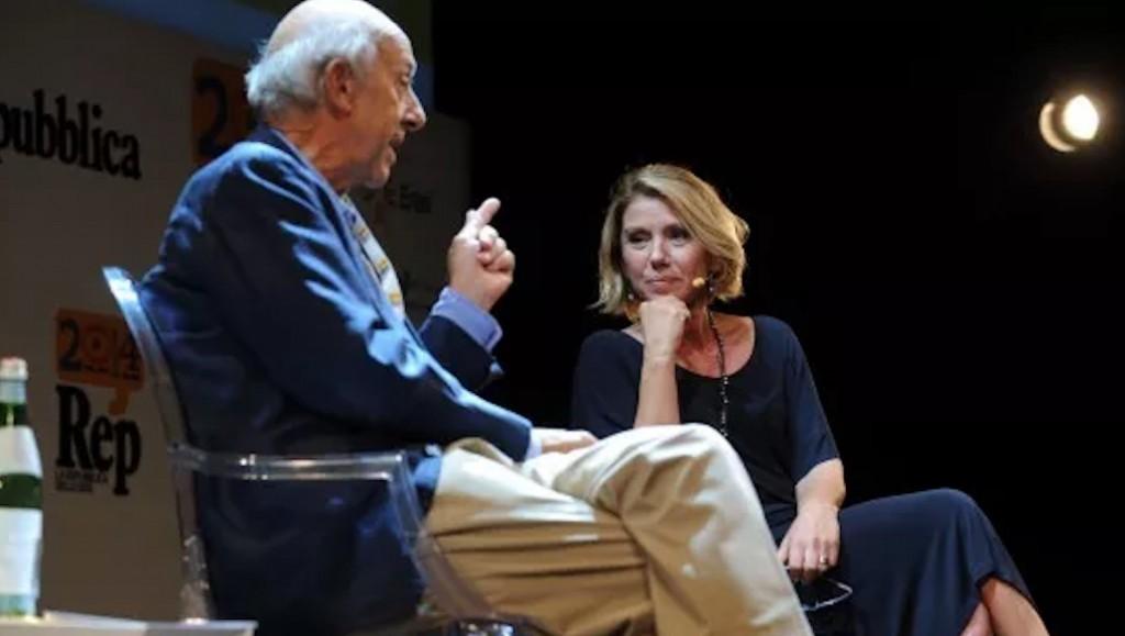 L'autrice del blog e lo psicoanalista Massimo Ammaniti discutono a Repidee del 2014 del ruolo dei genitori nell'educazione dei figli