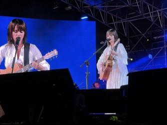 Carmen Consoli durante il concerto fatto a Verona per celebrare i suoi 25 anni di carriera