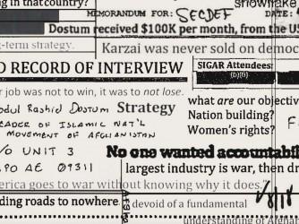 Alcuni dei ocumenti consultati dal Washington Post per la sua inchiesta, i cosiddetti Afghanistan Papers