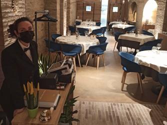 Lucia nel suo ristorante di Ferrandina, in Basilicata
