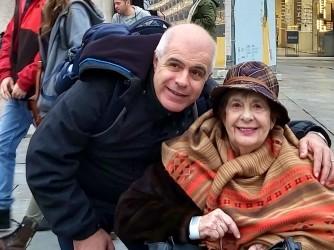Antonietta e suo figlio Giuseppe a Parma nel 2019