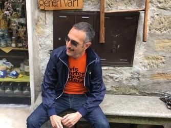 Corrado ha una passione per la musica, qui è a Umbria Jazz qualche anno fa