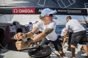 Alicante stopover, practice race on board Turn the Tide on Plastic. Photo by Jen Edney/Volvo Ocean Race. 13 October, 2017.