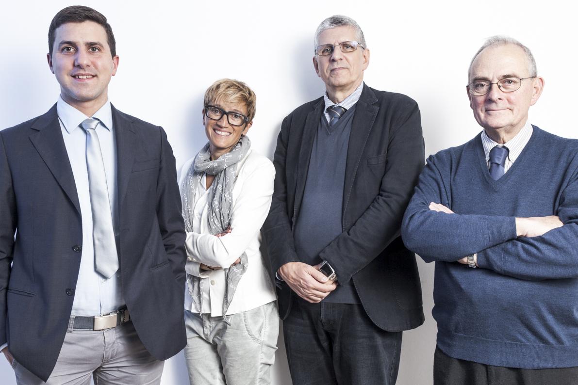 I fondatori di PicoSaTs: da sx Cuttin, Gregorio, Messerotti e Fragiacomo.