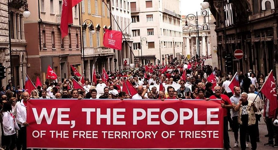 Manifestanti a Trieste (source: TriestNGO)