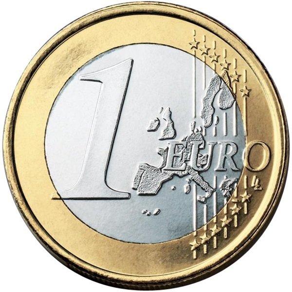 Una moneta da un Euro.