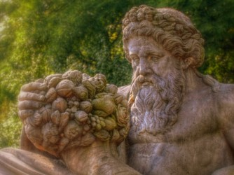Bust of Dionysos with cornucopia