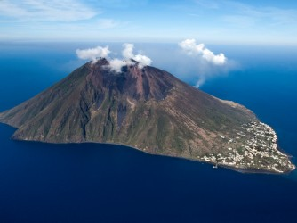 stromboli volcano at eolie island