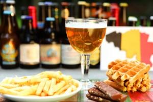 Belgian Food and Drinks: Beer, Waffles, Chocloate, Fries