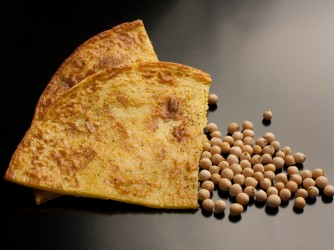 Typical salted cake with chickpeas flour