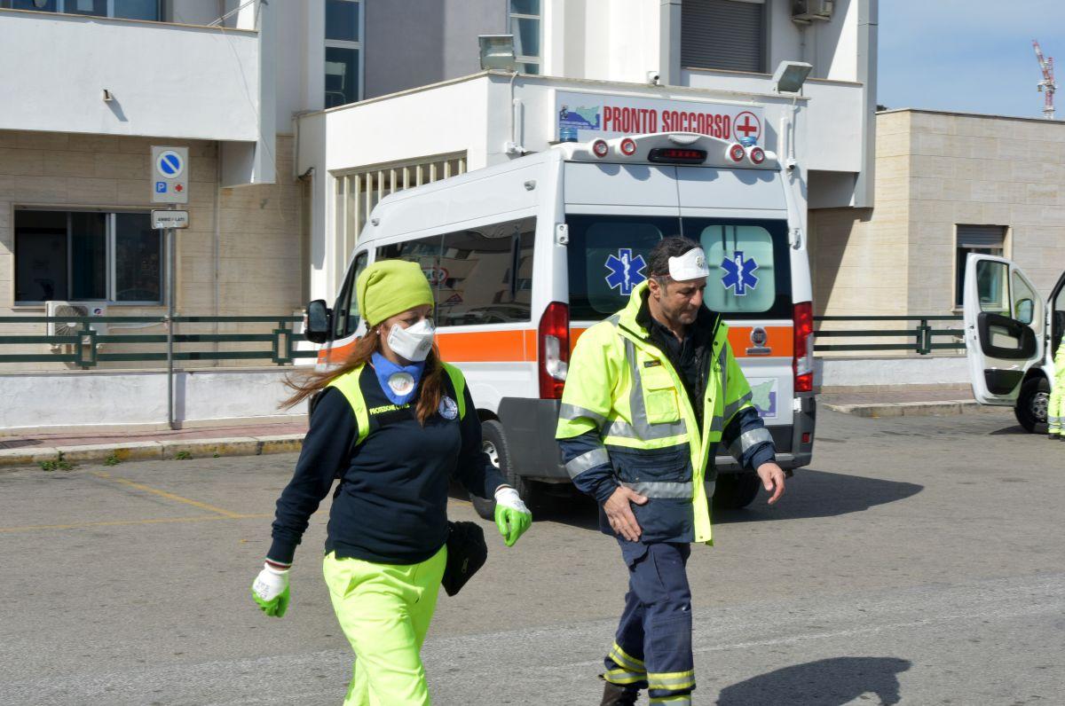 Coronavirus: Ospedale Vincenzo Cervello.Palermo 26-02-2020.Mike Palazzottto