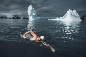 British activist swims in Antarctica to call for ocean protection