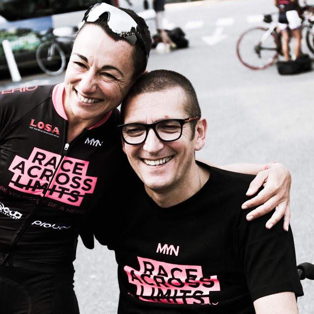 Sabrina e Davide alla partena della Race Across Lints 2018