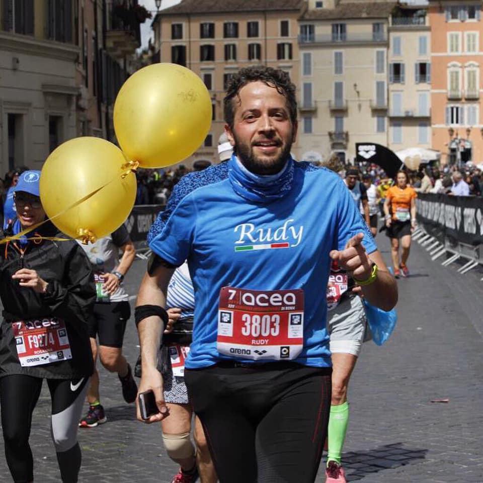 Rudy alla Maratona di Roma 2019