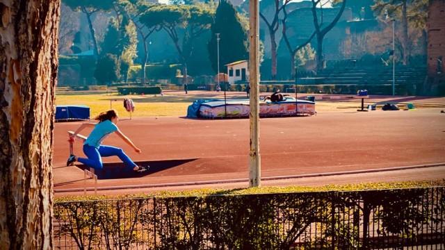 Giovani in azione in pista - Foto Daniele Silvioli