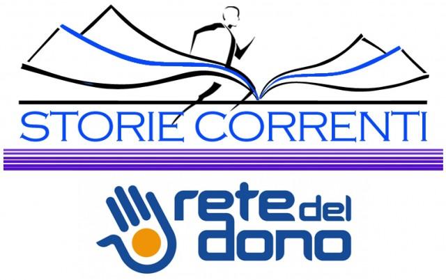 I loghi di storiecorrenti e Rete del Dono per far conoscere megio le storie di chi corre per le Charities alla Acea Run4Rome