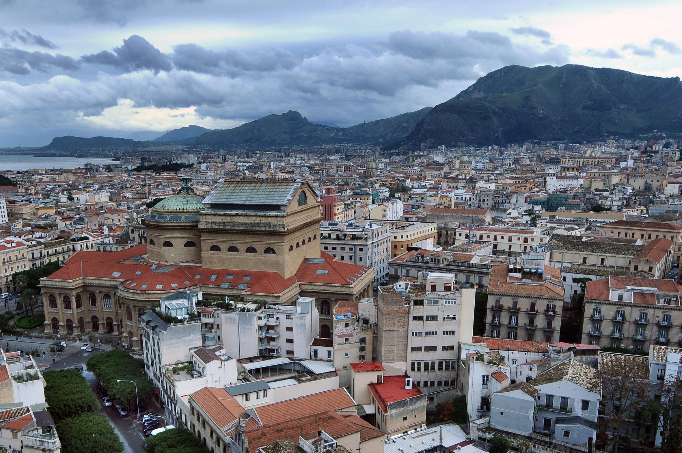 Palermo:Centro storico visto dall'alto.(ARCHIVIO) Palermo 06-02-2021