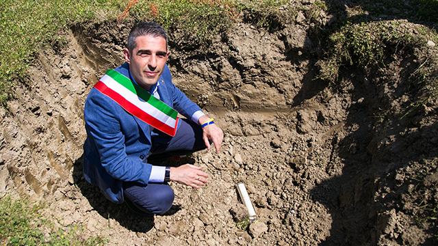 2018 06 21 Pizzarotti Alinovi Prima pietra Parco giochi San Prospero-3