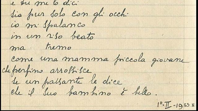 """""""Pudore"""", manoscritto Antonia Pozzi"""