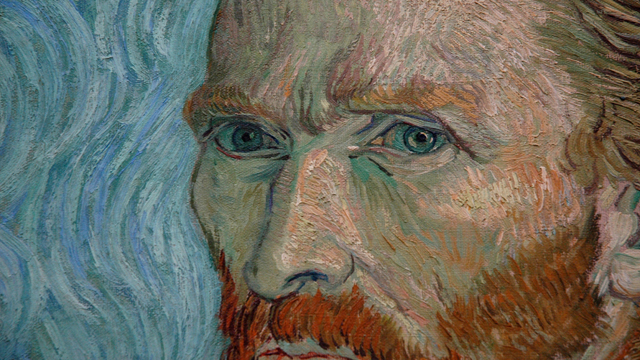 n Gogh, Autoritratto, 1889, Musée d'Orsay, Parigi (dettaglio)