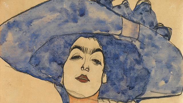 Egon Schiele, Portrait of Eva Freund, c..a.1910