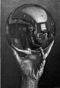 Escher mano sinistra