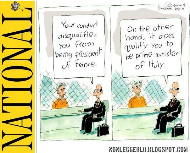Vignetta Berlusconi National Post - Nonleggerloi