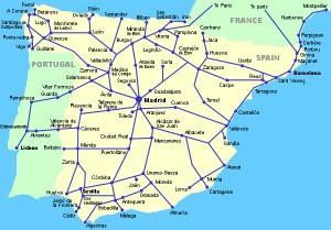 Spanish rail map