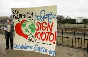 Protestors Present Kyoto Protocol Valentine To Bush