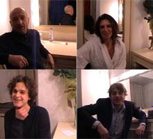 Gli attori intervistati: Nanni Tormen, Paola De Crescenzo, Alessandro Averone, Luca Nucera