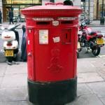 Una cassetta delle lettere a Londra