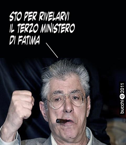 Leader of Italian party 'lega Nord', Umberto Bossi