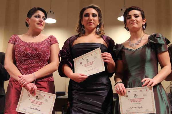 da sinistra Federica Spatola,Taisiya Ermolaeva, Angela Angheleddu