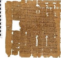 Fig.1: Papiro con testo greco.
