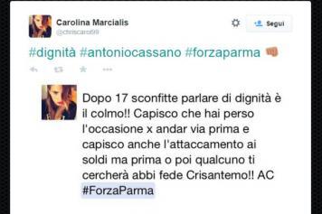 Tweet Cassano