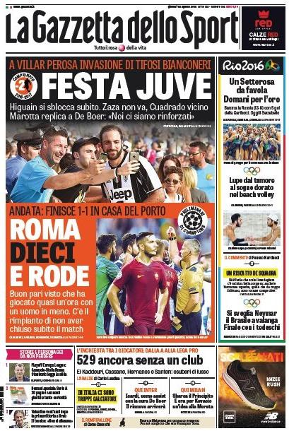 La Roma in dieci che fa 1-1 col Porto 7d5cd739ad31d